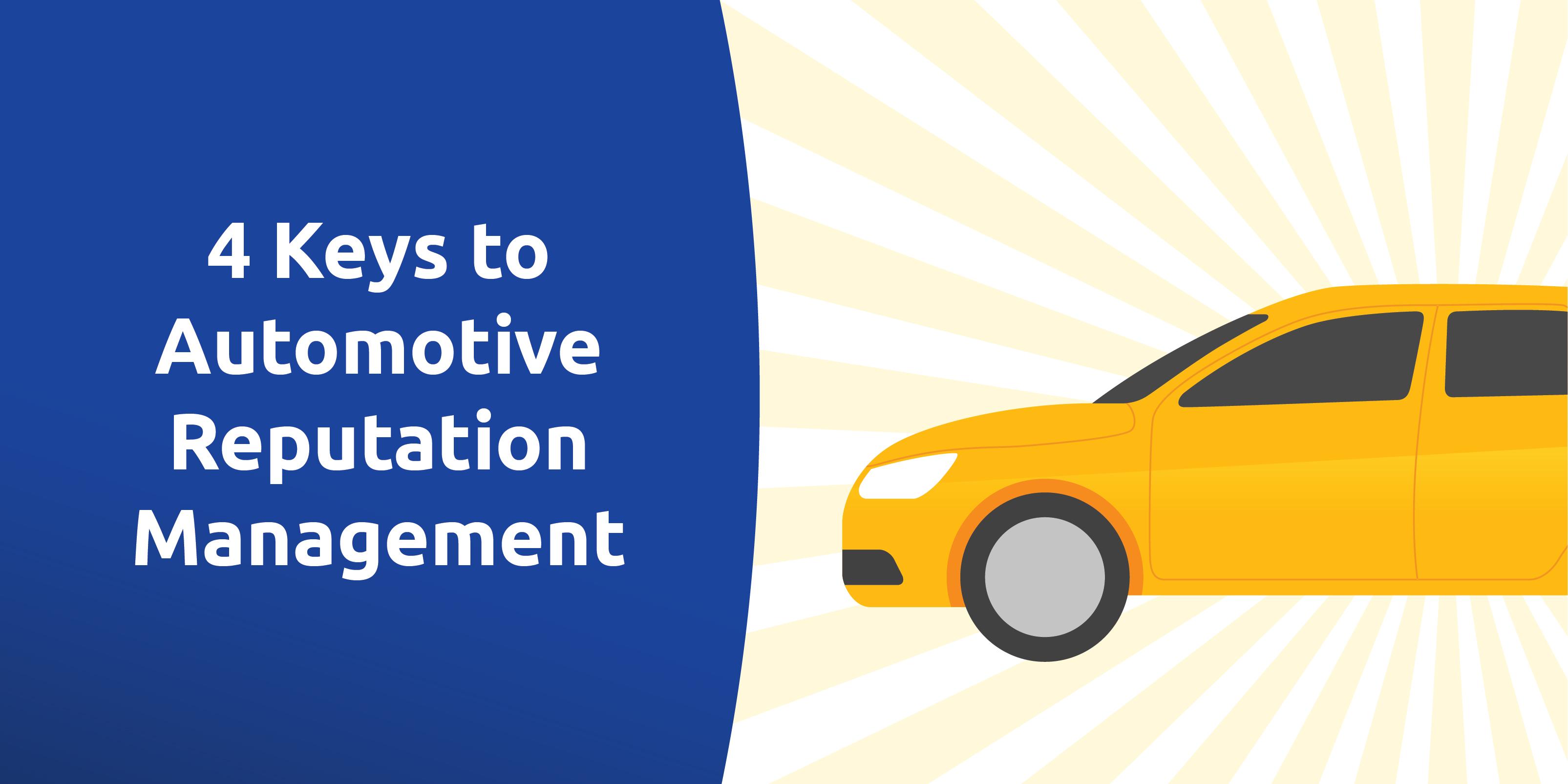 4 keys to automotive reputation management