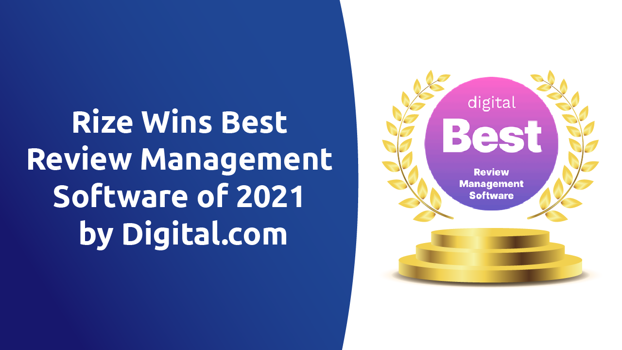 Digital.com Recognizes Rize Reviews Among the Best Review Management Software of 2021